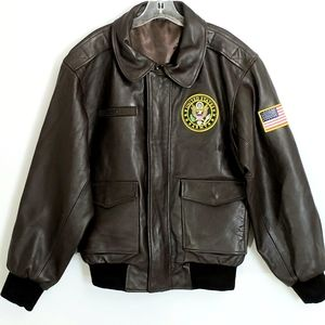 Danbury Mint US Army Brown Leather Bomber …
